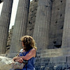 Greek trip and Cruise in 1971 Jane in front of the Parthenon