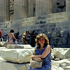 Greek trip and Cruise in 1971 Jane Parthenon
