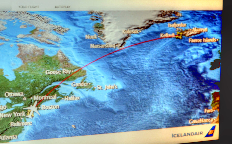 GPS MAP TO ICELAND FROM JFK 2011
