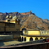 JAIPUR, INDIA Amber Palace and Fort, built in 1592 by Maharajah Man Singh, Jaipur, Rajasthan state, India, Asia