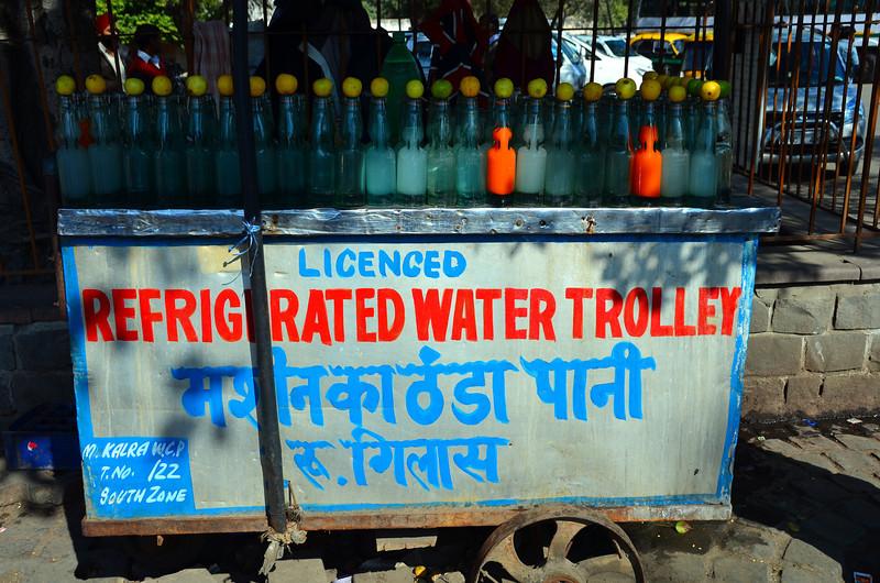 Qutb Comblex New Delhi water trolly - it is licenced (sic) so it must be good......