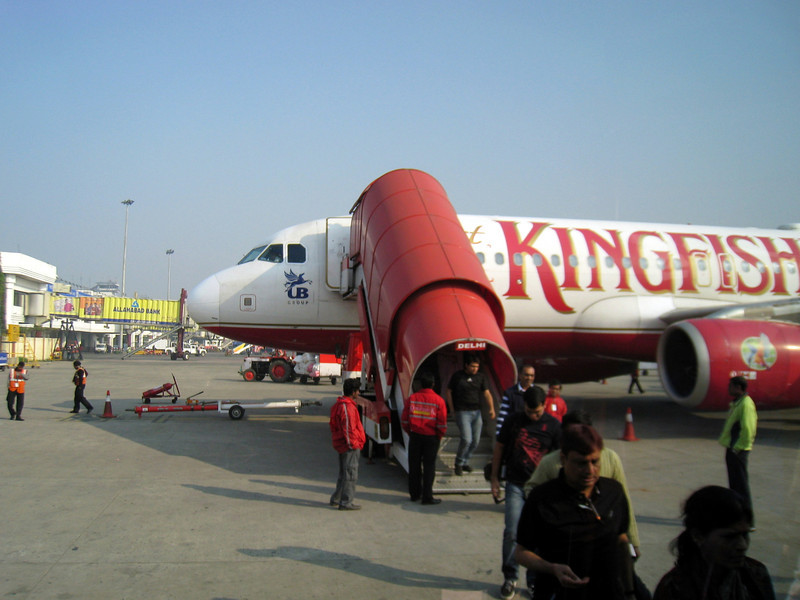 Kingfisher Airlines into Delhi New Delhi