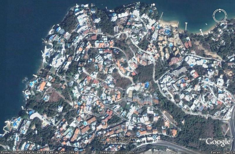 Aerial view of Las Brisas, Acapulco, GRO, Mexico