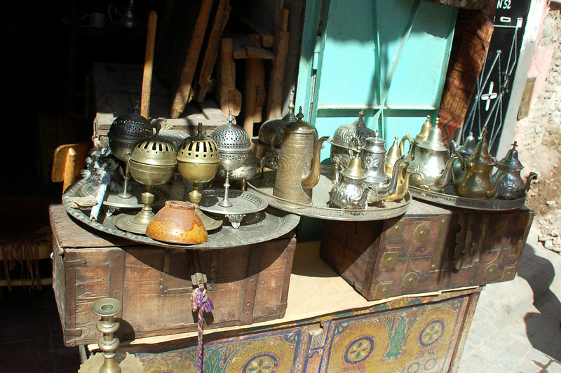 selection of goods in the Marrakesh market berber