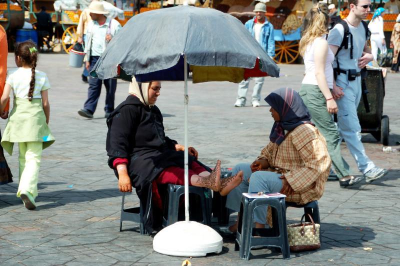 Djemaa el Fna Square henna painting  Marrakesh berber