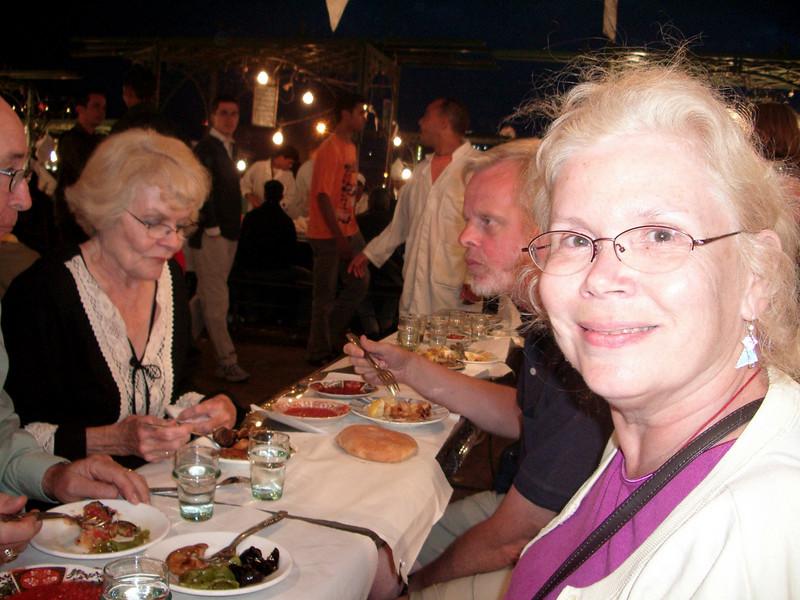 Djemaa el Fna Square night dinner  Marrakesh berber