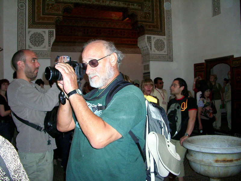 andy filming in marrakesh berber