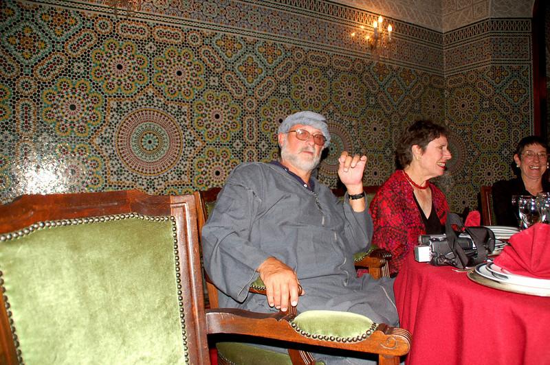 farwell dinner in my islamic dress.  Marrakesh jalabba berber
