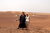camp 2, Betty and I posing, with our tents in the background. I'm in a Jalabba.