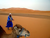 back drop of the Erg Chebbi sand dunes Sahara Desert