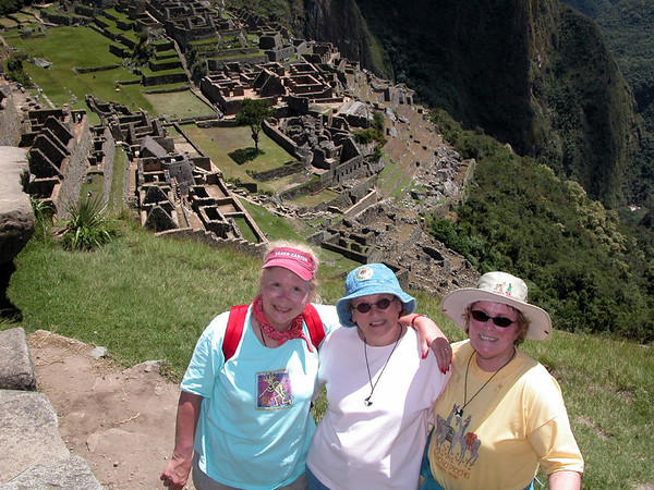 at the sun gate over machu piccu (overseas adventure travel) UNESCO WORLD HERITAGE SITE