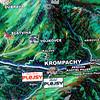map krompachy, slovakia