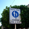 only pedestrians in the down town Presov