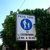 only pedestrians in the down town Presov