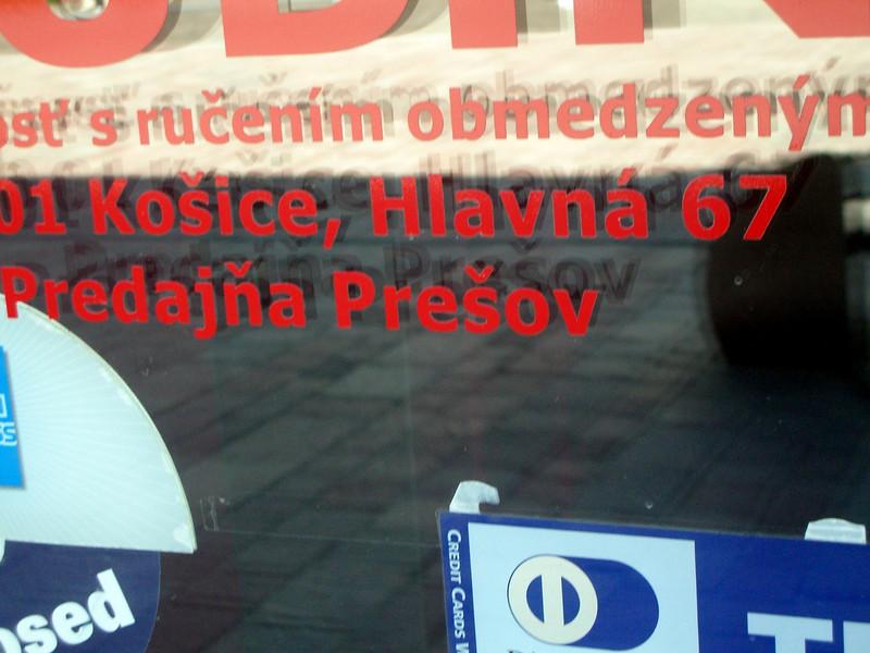 Presov sign