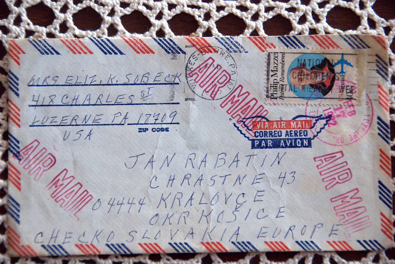letter from usa to slovakia, jan rabatin