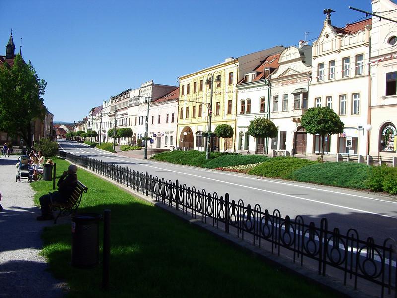 Presov, Slovakia  down town main street