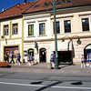Presov getting ready for parade in the down town Presov, Slovakia