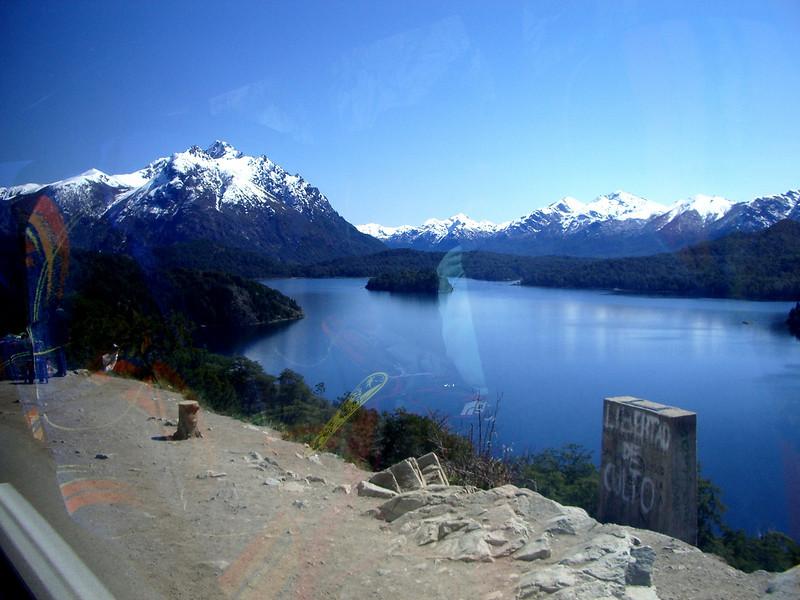 Bariloche, Argentina,  Basque de Arrayanas forest Andes view