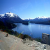 Bariloche, Argentina,  Basque de Arrayanas forest Andes view