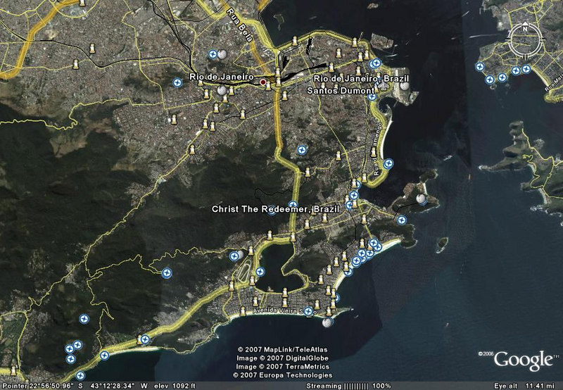 map of chirst the redeemer christos rio brazil Salavadore, Brazil