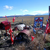 Gaucho Gil shrine, Argentine boarder, in the Andes Mountains
