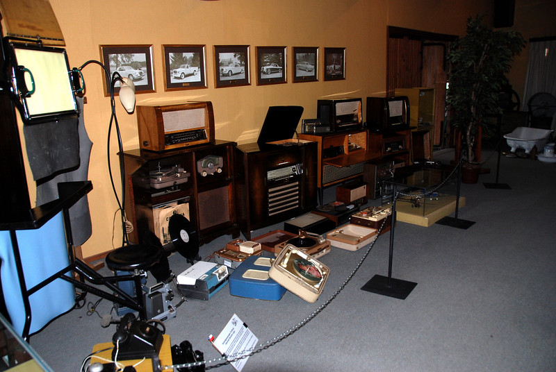 Old phonographs at the museum