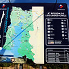 Chiloe, Chile map showing the island with the capital of Castro.
