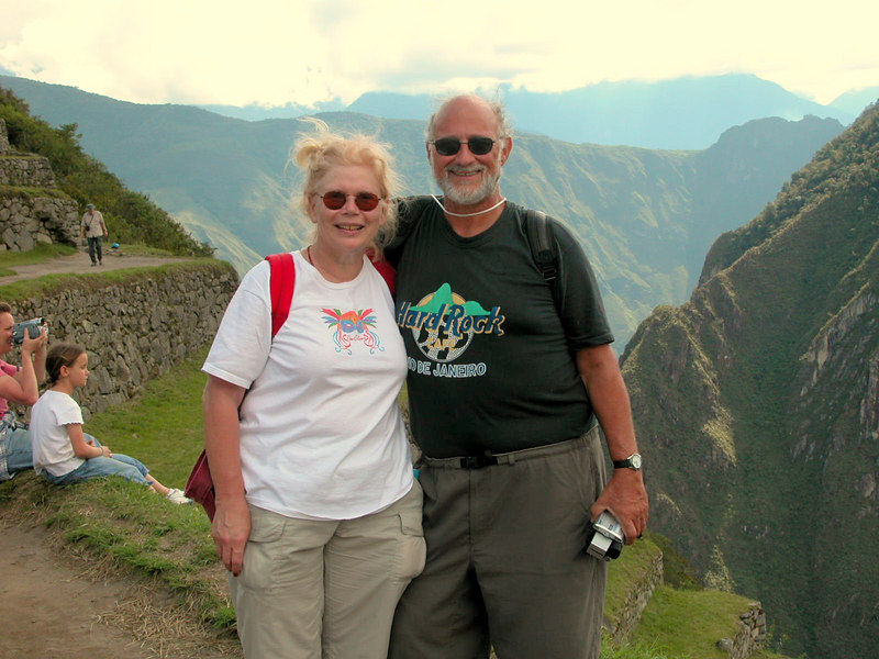 at the top machu pichu UNESCO WORLD HERITAGE SITE