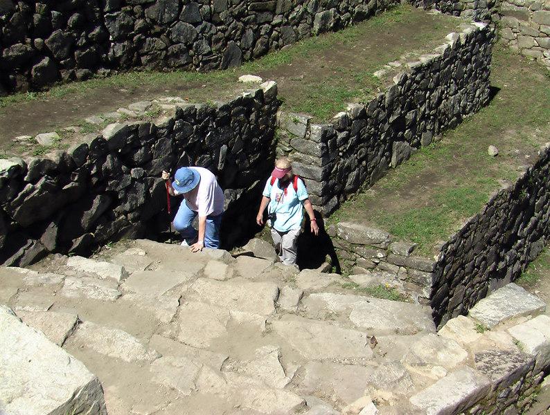 machu piccu waling up to sun gate UNESCO WORLD HERITAGE SITE