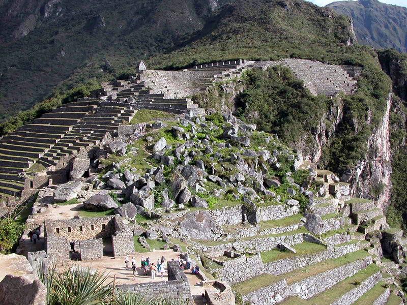 machu piccu  terraces for farming UNESCO WORLD HERITAGE SITE