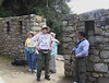 at the sun gate over machu piccu about 1000 feet up from the ruins UNESCO WORLD HERITAGE SITE