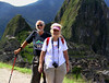 at the sun gate over machu piccu UNESCO WORLD HERITAGE SITE