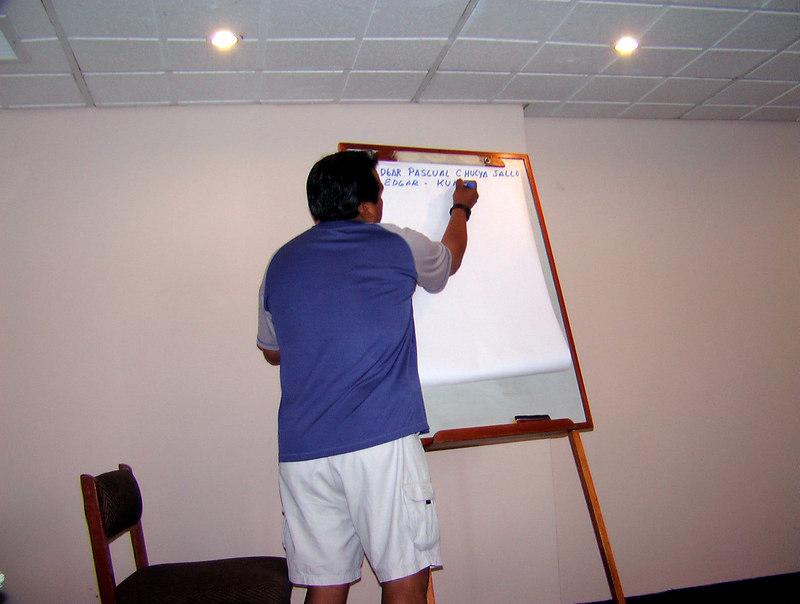 tour guide setting agenda Peru lima, peru