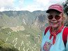 at the sun gate over machu piccu with betty UNESCO WORLD HERITAGE SITE