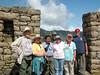 at the sun gate over machu piccu 1000 feet higher than machu piccu. oat tour UNESCO WORLD HERITAGE SITE