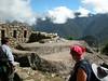 at the sun gate over machu piccu 1000 feet higher than machu piccu UNESCO WORLD HERITAGE SITE