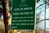 Botswana welcome sign, kazungula boarder of zimbabwe and botswana