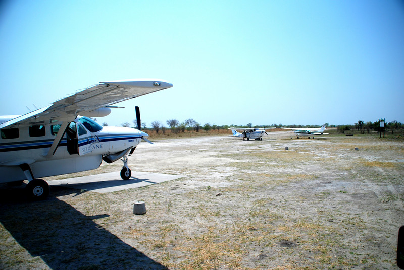 Our air transport plane, nki ya makgobogobo note large landing pad.