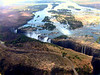 victoria falls from the helicopter air photograph