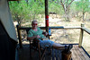 Moremi Game Reserve, Botswana in the Okavango Delta Betty in the Lodge resting between safaries