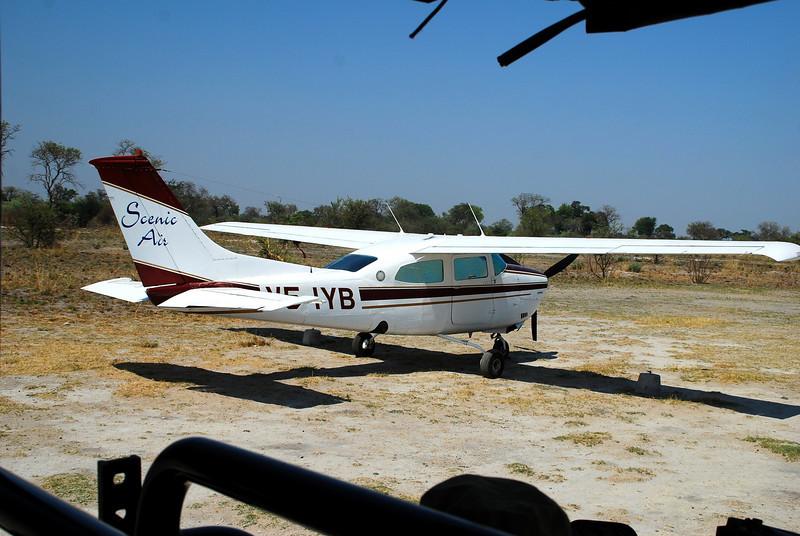 Aircraft between safari camps, Africa Botswana Moremi Game Reserve, Botswana in the Okavango Delta