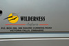 wilderness safaris truck door with info
