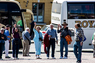 Our traveling companions about to embark on a walking tour of Helsinki.