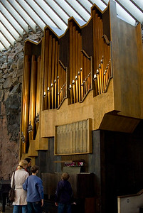 The organ with 43 pipe-registers is placed inside the church.