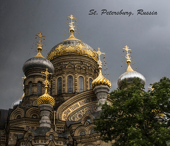 St. Petersburg, Russia is one of the most beautiful cities.  Stunning orthodox churches, palaces, museums and statues dot the main riverfront and local parks.