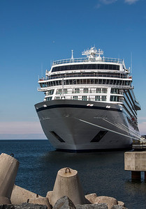 The Viking Star docked at the Tallinn, Estonia port.