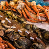 Bergen is a fishing center and the  open air market holds the most delightful array of sea foods.