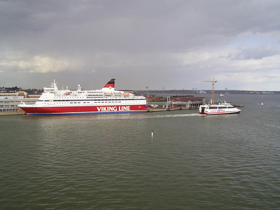 2007 - F/B GABRIELLA and HSC BALTIC JET in Helsinki.