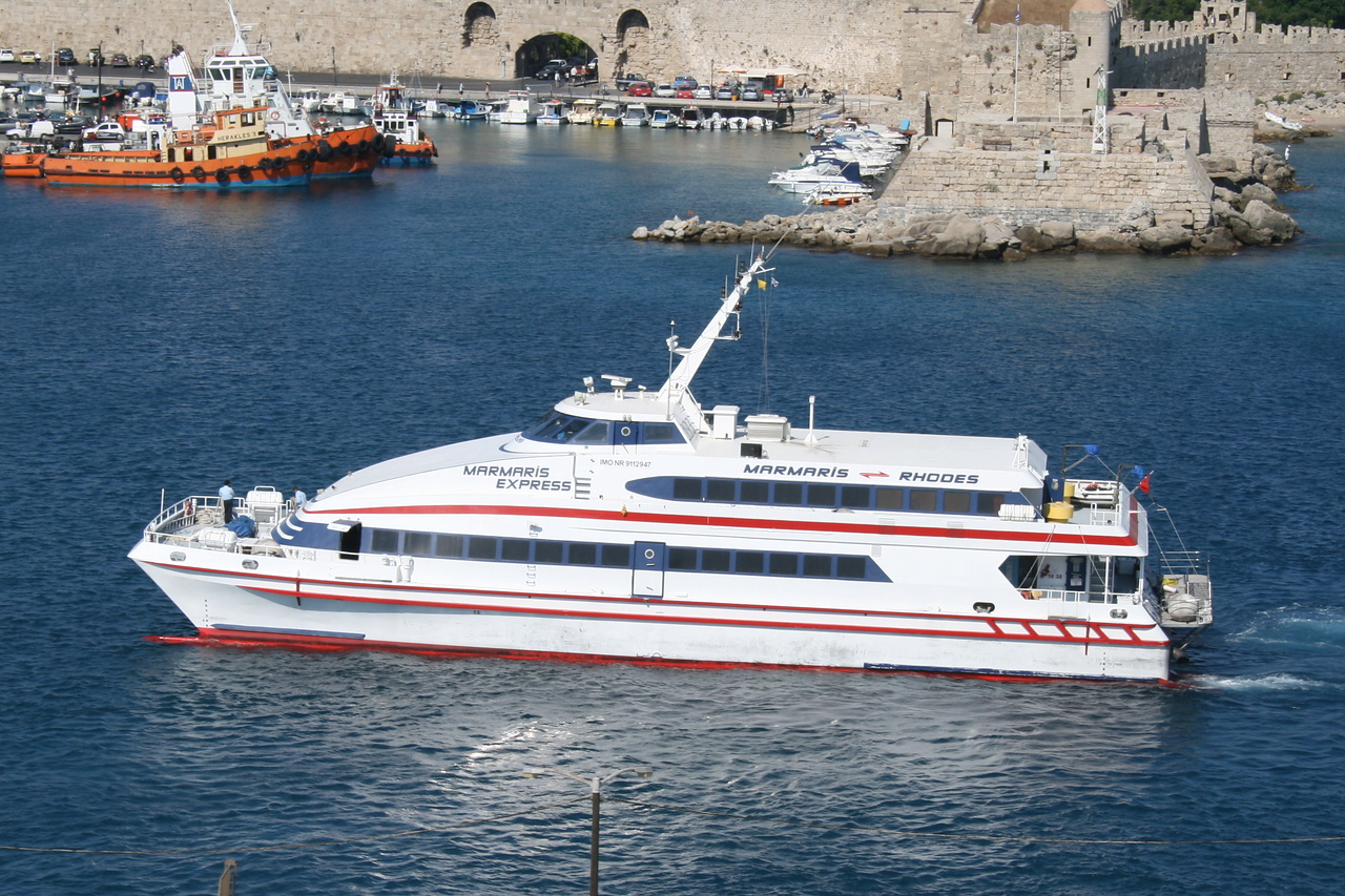 2009 - HSC catamaran MARMARIS EXPRESS arriving to Rodos.